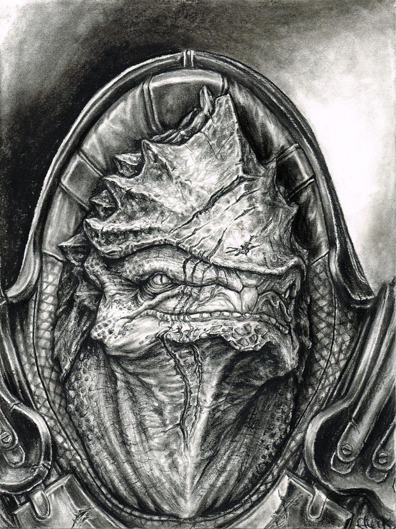 Wrex Portrait by efleck
