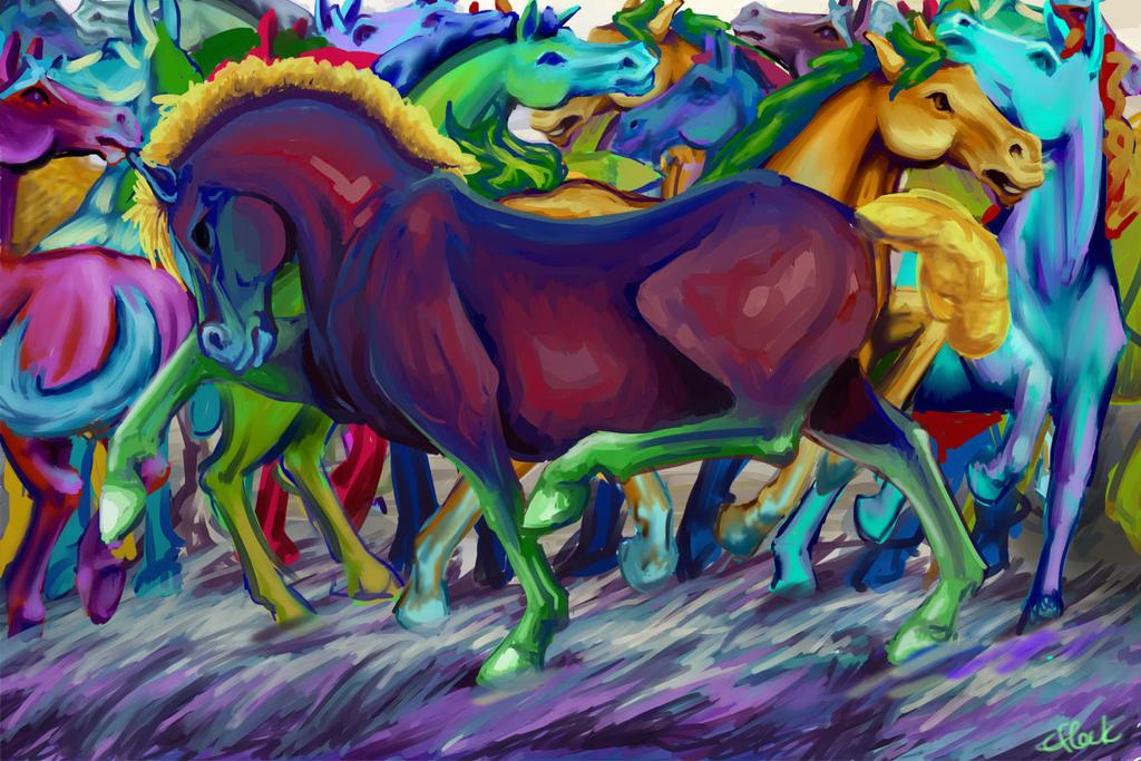 Ponies by efleck