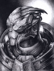 Another Garrus portrait by efleck