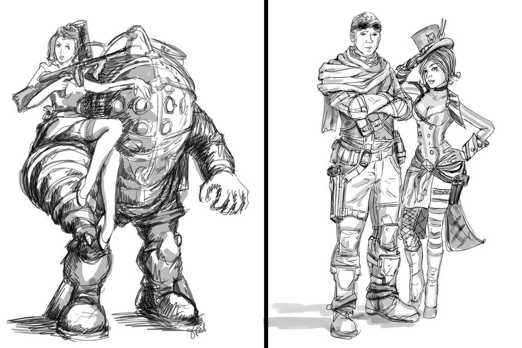 Duo Sketches by efleck