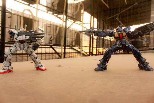 Gundam Mk-II Rooftop Photo Test 7