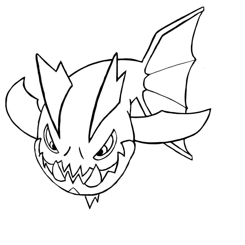 Carvanha Pokemon Kleurplaat Carvanha Lineart By Tonko On Deviantart