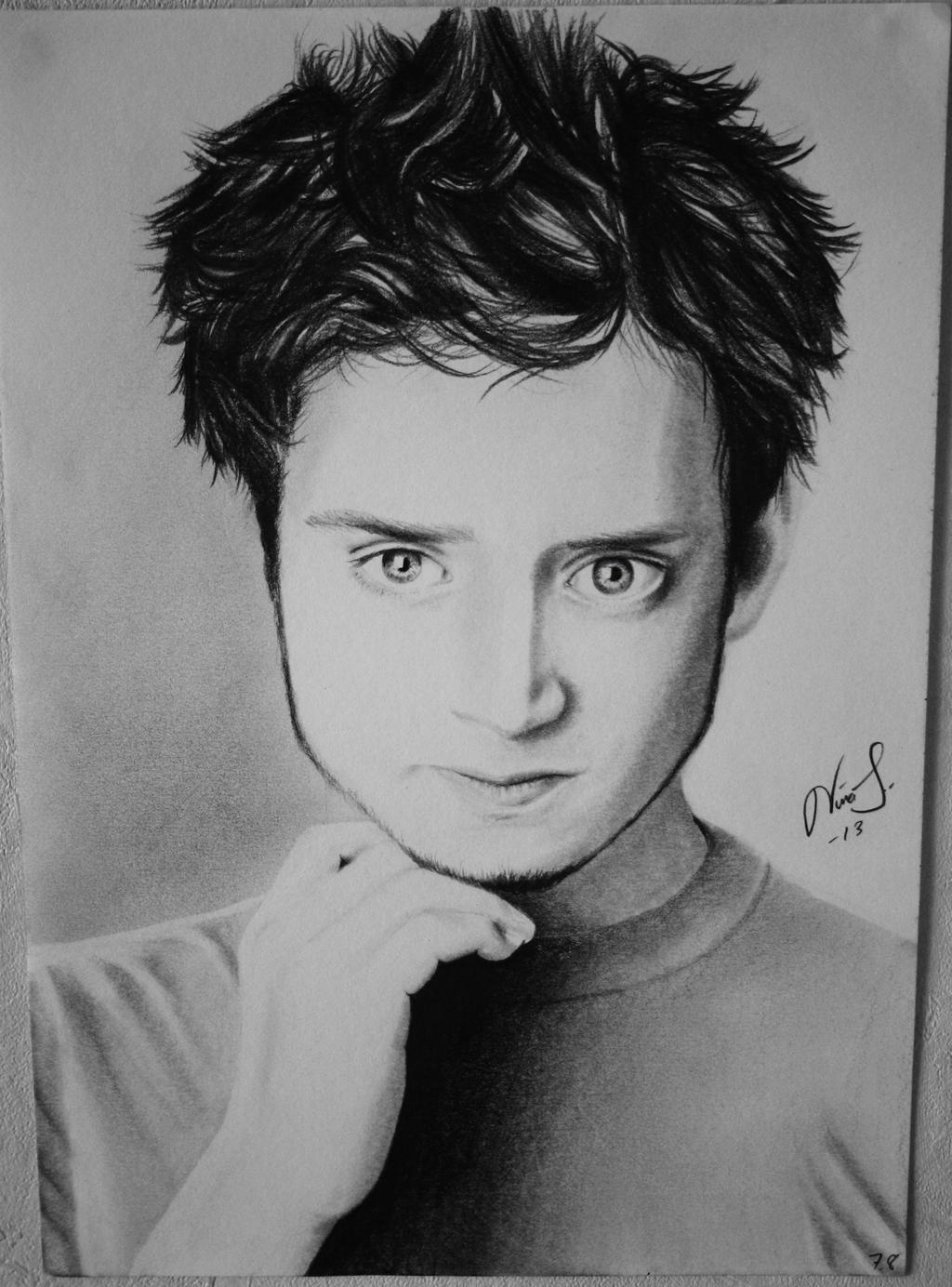 Drawing of Elijah Wood by Niiina97