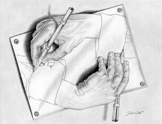 Drawing Hands by powerman5thousand