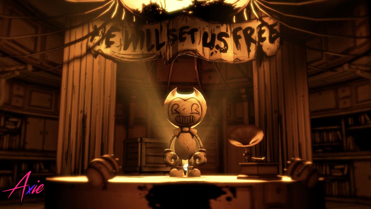 Library Entrance   Bendy Chapter 4 Poster by realAxie