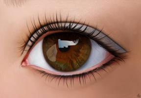 Brown eye. by Alexandoria