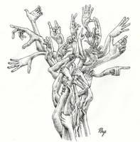 Flowering Hands by rhyshaug