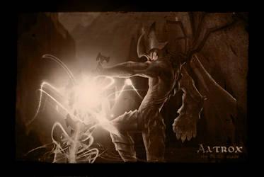 Aatrox, the Darkin Blade by stefangrujicic