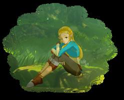 Princess Zelda - Breath of the Wild by solle-art