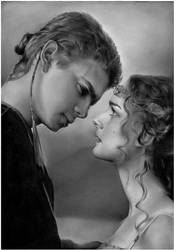 Anakin and Padme Commission by Anna-Mariaa