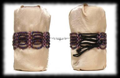 Purple iris scales cuff by Cayca