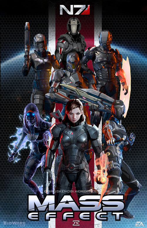 Mass Effect N7 DLC Fan Art Collage: Femshep Versio by rs2studios