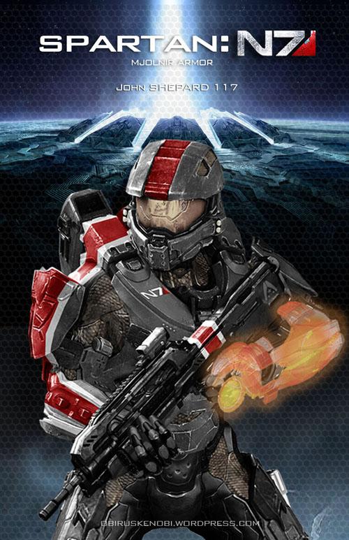 Mass Effect/Halo Fan Art Mash-up: Spartan N7 by rs2studios