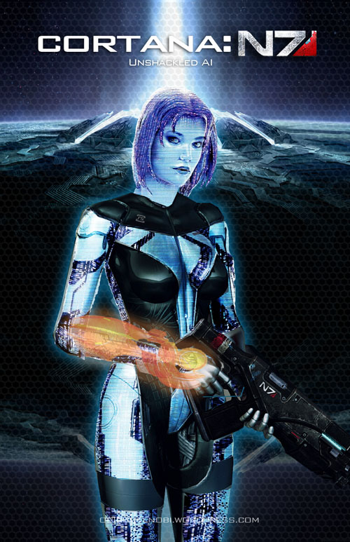 Mass Effect/Halo Fan Art Mash-up: Cortana: EDI by rs2studios