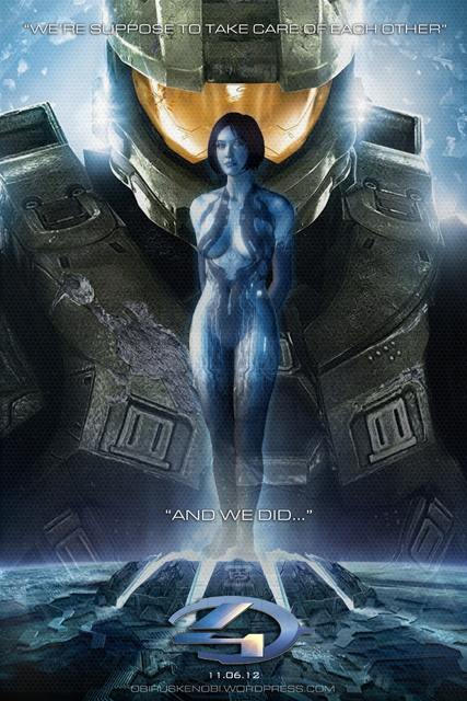 And We Did   Cortana and Master Chief Fan Art by rs2studios