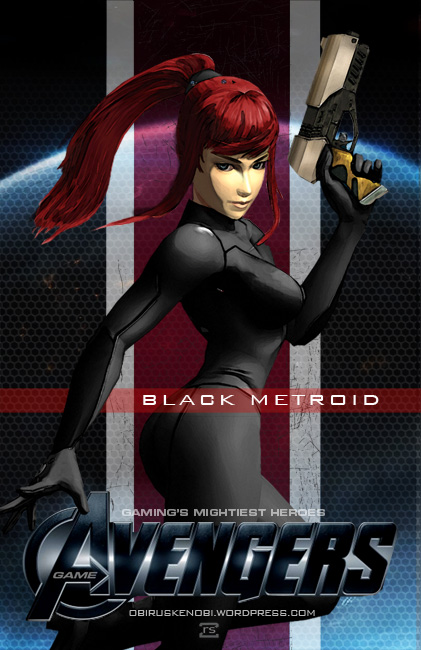 Video Game Avengers The Black Metroid Fan Art by rs2studios