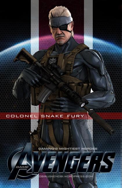 Video Game Avengers Snake Fury Fan Art by rs2studios