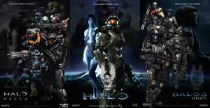 Halo Fan Art Triptych: Reach, Halo, ODST
