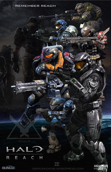 Halo Fan Art Triptych: Halo: Reach Version by rs2studios