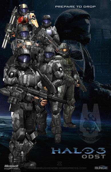 Halo Fan Art Triptych: ODST version by rs2studios
