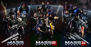 Mass Effect Trilogy Fan Art Triptych