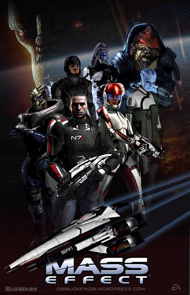 Mass Effect Trilogy Fan Art Triptych: Mass Effect by rs2studios