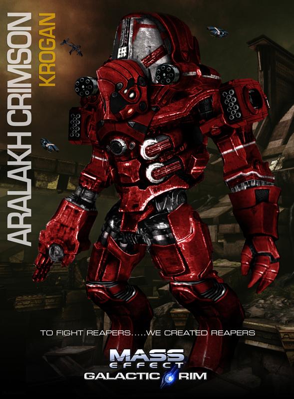 MassEffect Jaeger Mashup Krogan Aralakh Crimson by rs2studios