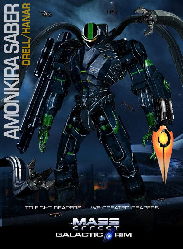 MassEffect Jaeger Drell-Hanar/Amonkira Saber by rs2studios