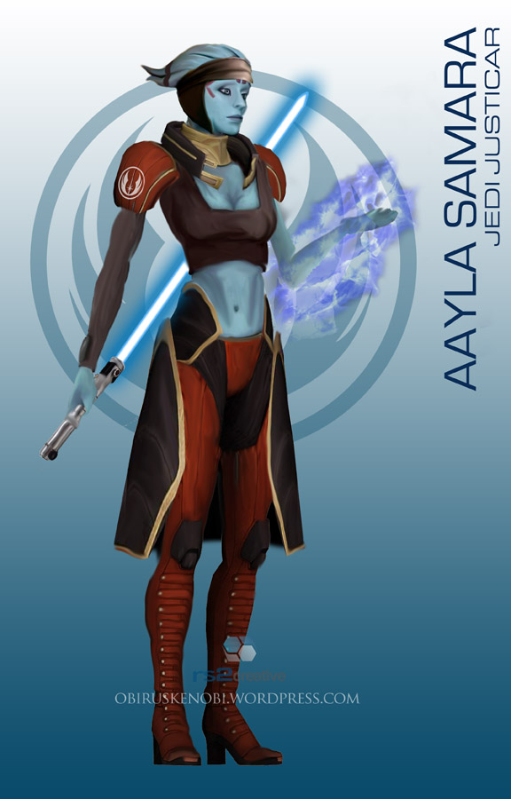 StarWars MassEffect Crossover Aayla Samara by rs2studios