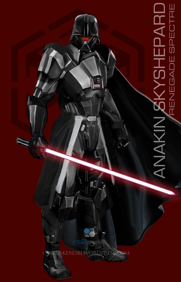 StarWars MassEffect Crossover Anakin Skyshepard by rs2studios