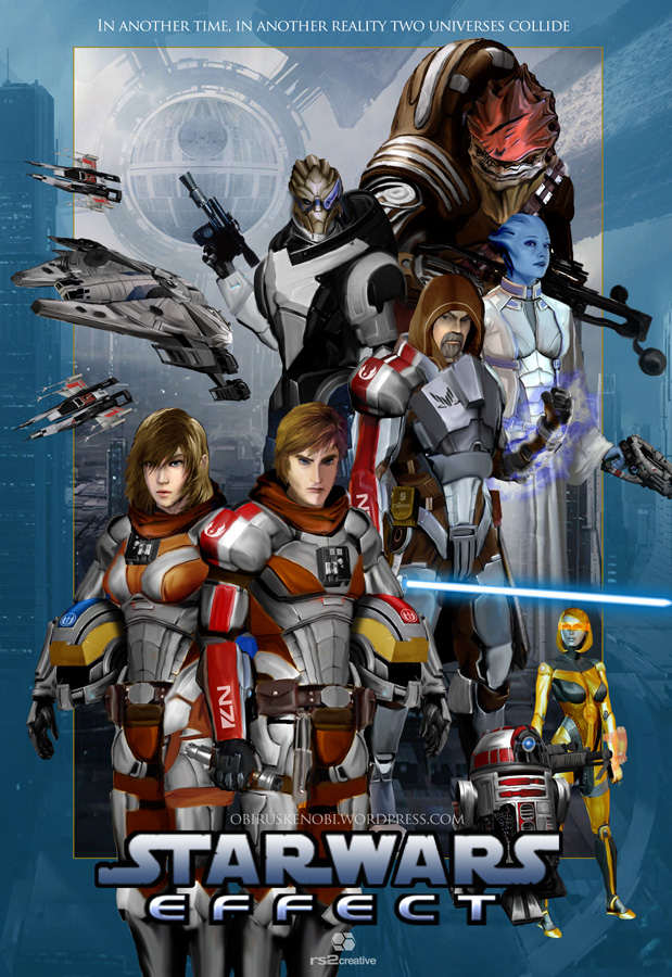 Star Wars Mass Effect Fan Art Crossover Mashup by rs2studios