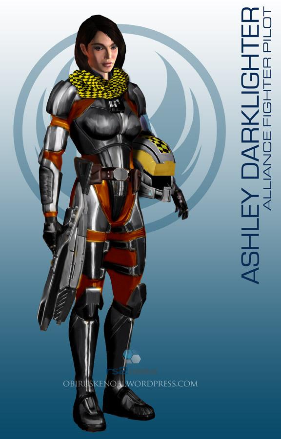 StarWars MassEffect Crossover Ashley Darklighter by rs2studios