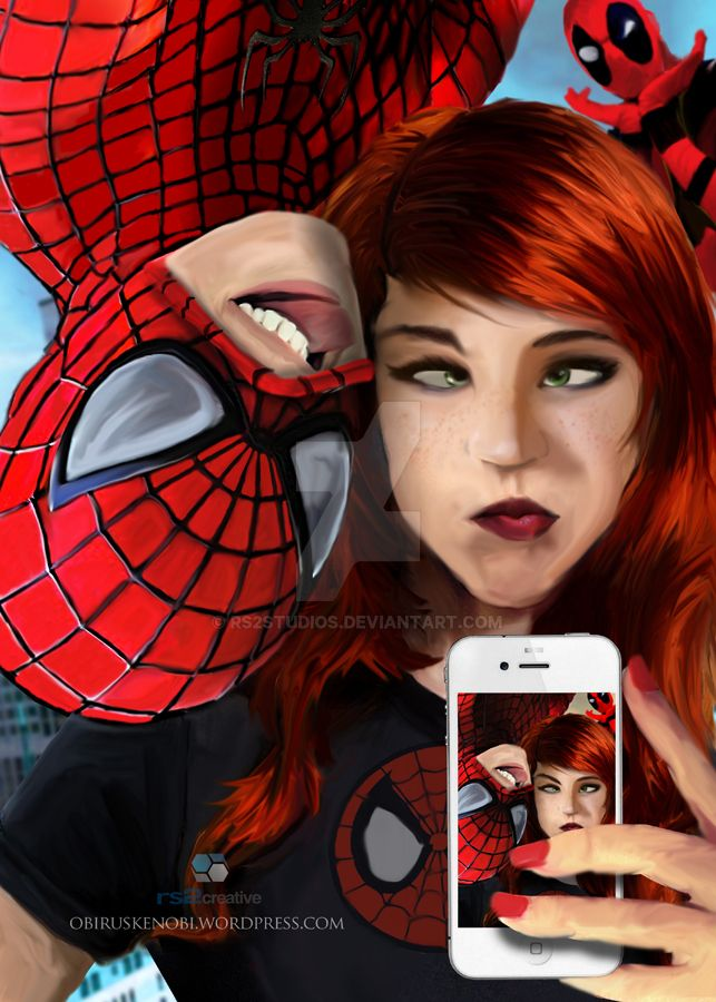 Spidey and Mary Jane Selfie Part 2 of 4 Fan Art by rs2studios