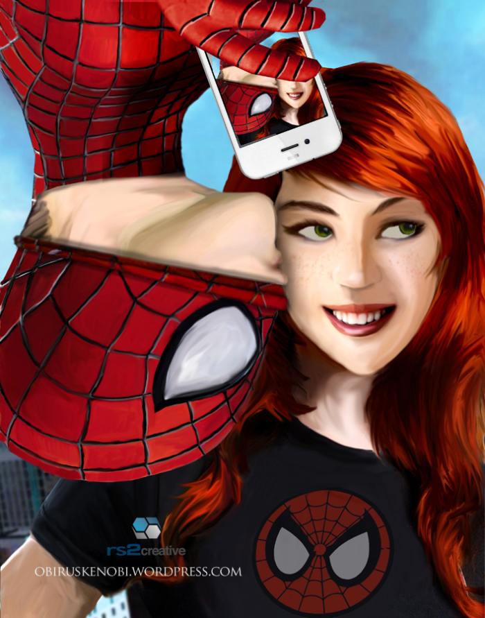 Spidey and Mary Jane Selfie Part 3 of 4 Fan Art by rs2studios