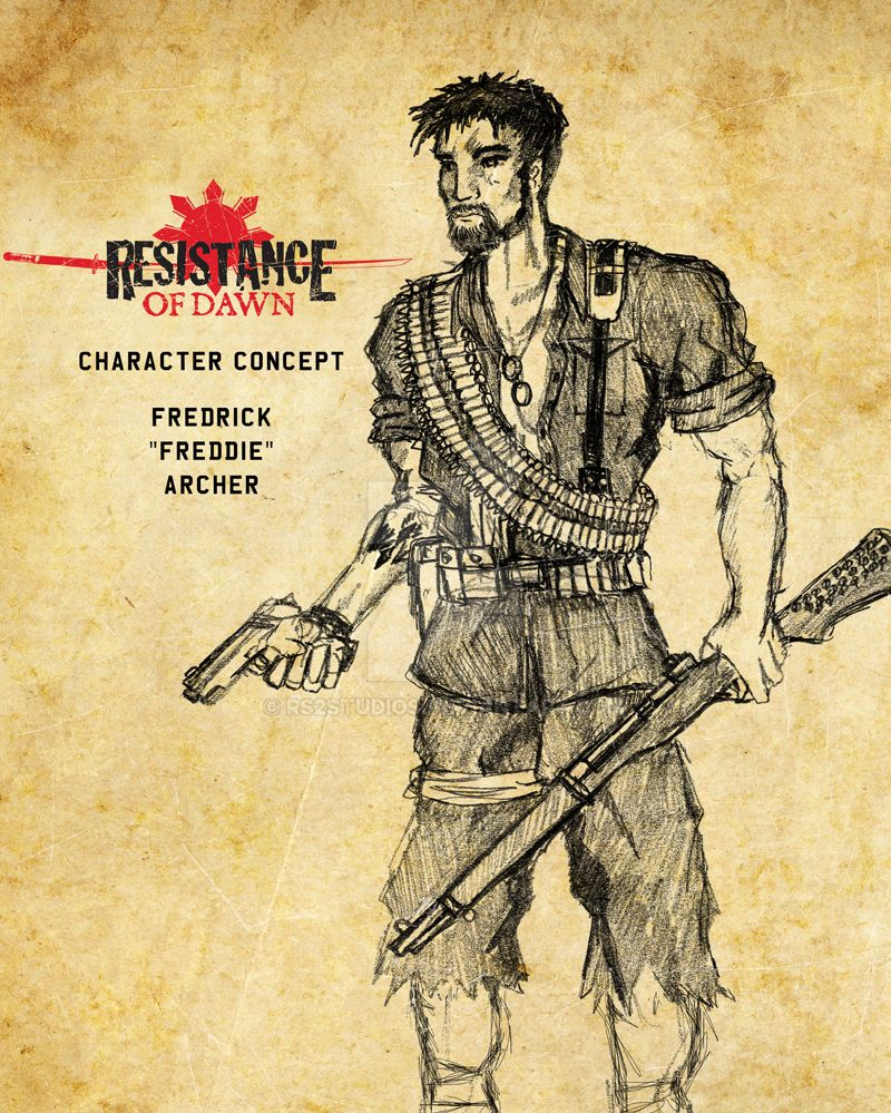 Resistance of Dawn Character Concept Freddie by rs2studios
