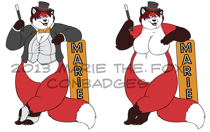My 2013 Conbadges by PudgeyRedFox