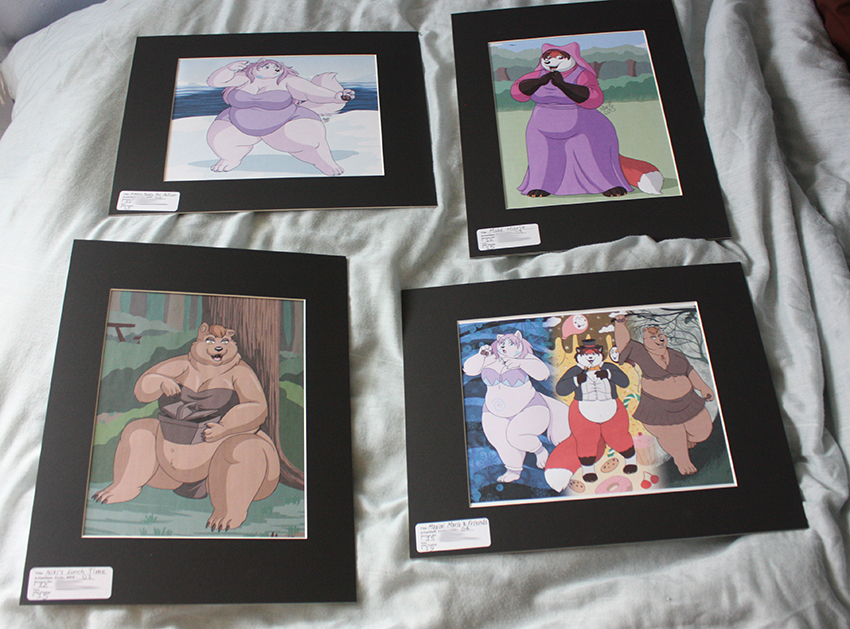 Gettin ready for the Anthrocon Art Show by PudgeyRedFox