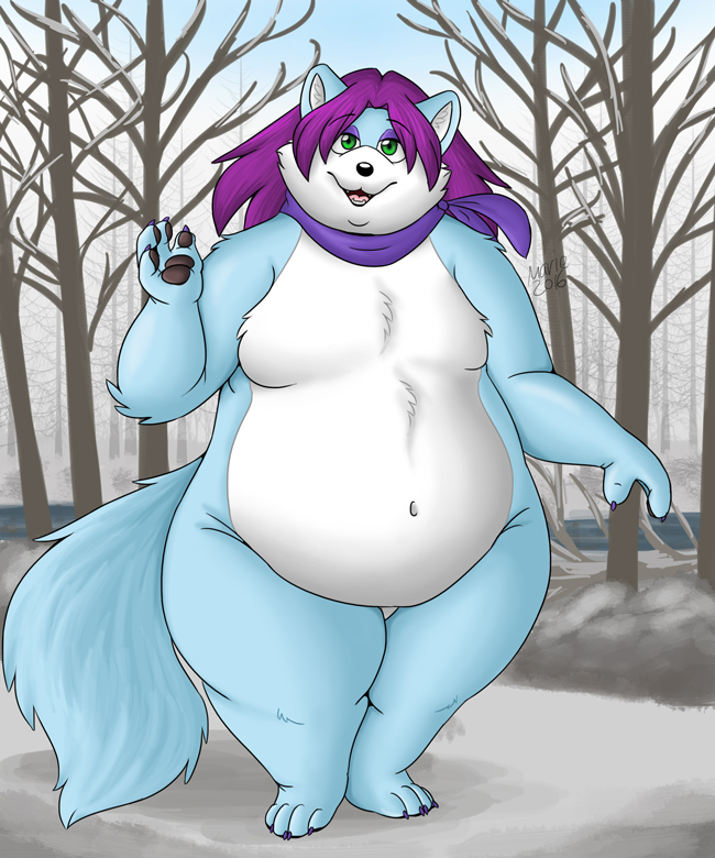 Jay the Arctic Fox by PudgeyRedFox