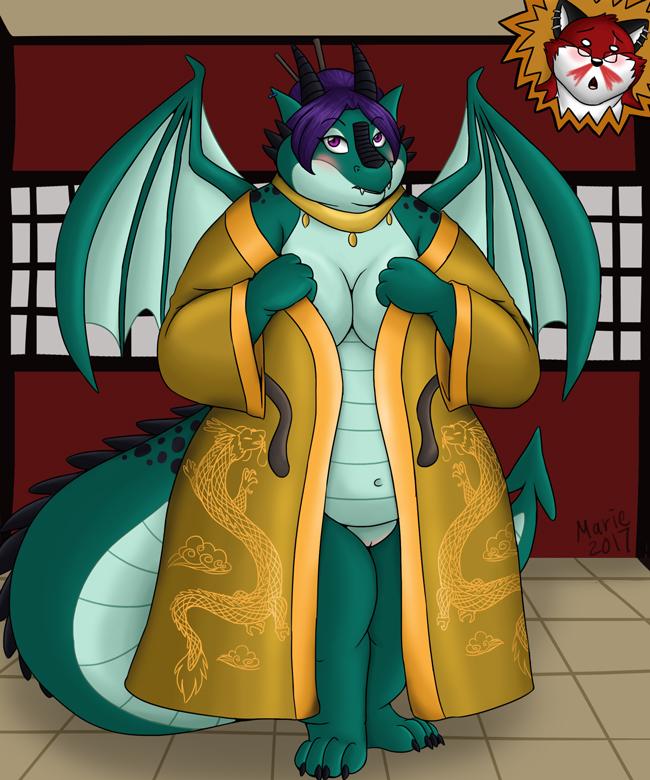 Geisha Dragon by PudgeyRedFox