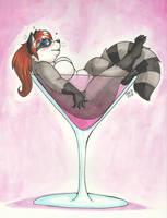 Raccoon Martini by PudgeyRedFox