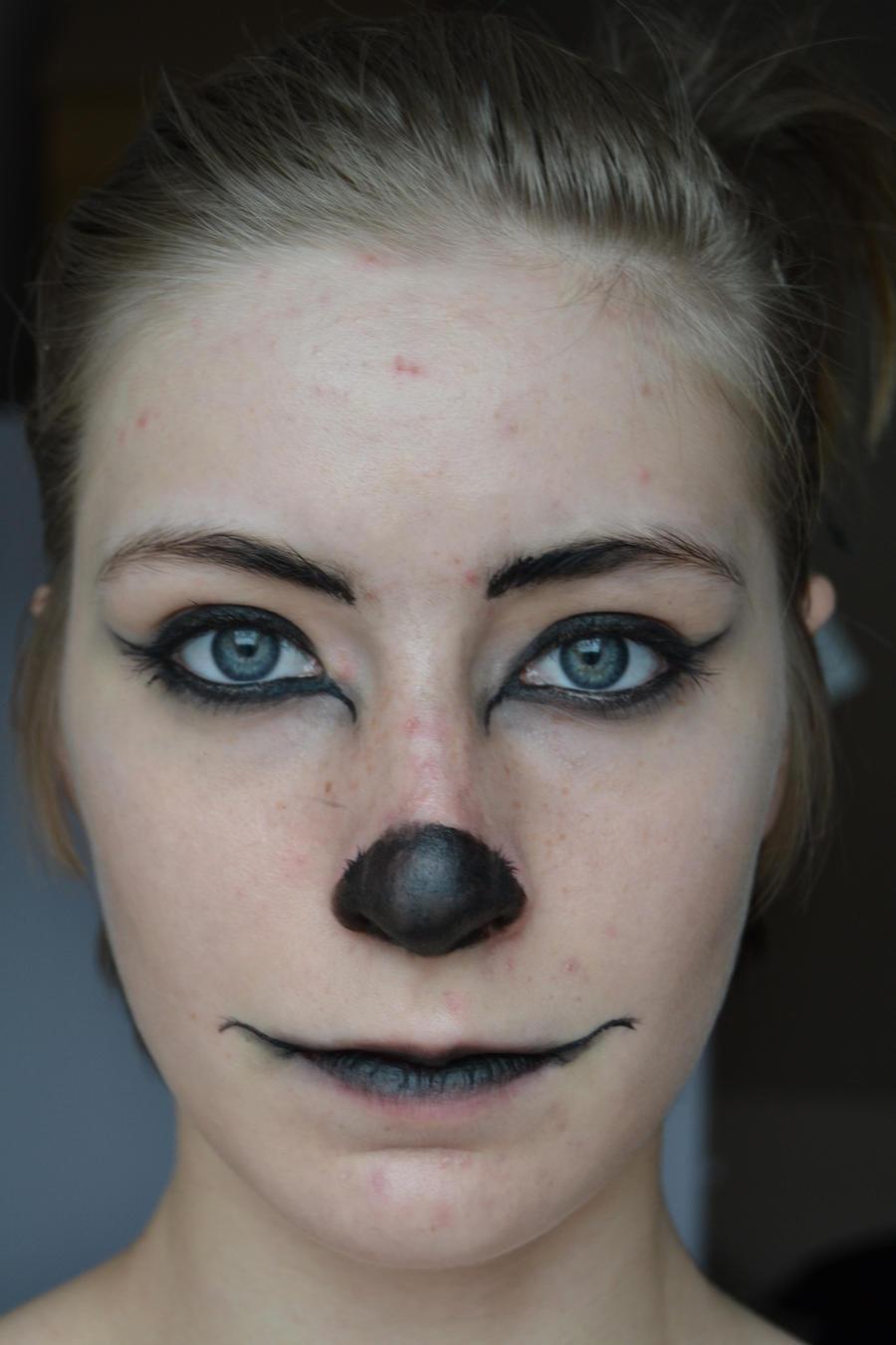Wolf Makeup First Try Killermachinex Deviantart