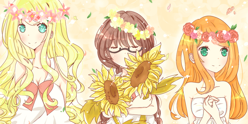 Flower Girls + Speed Paint + by bunyeol