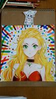 Cool girl drawing  by animemaka