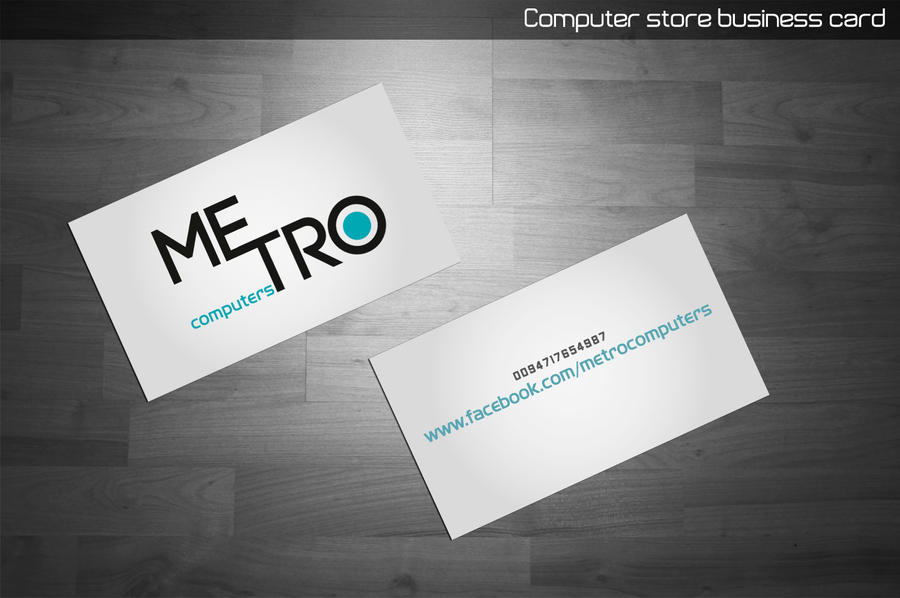Computer store business card by Meanstoabeginning on DeviantArt