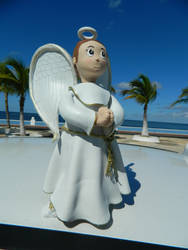 Angel at the beach