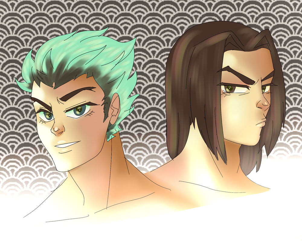 Young Genji and Hanzo by SuchAChoirBoy