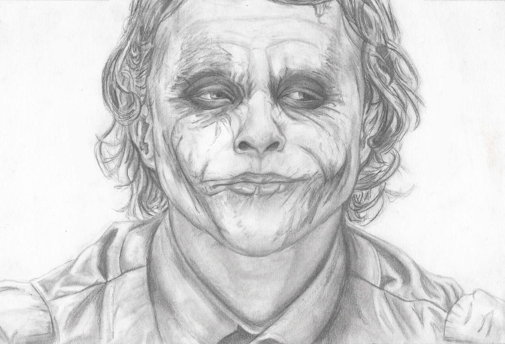 Joker Pencil Sketch By Evanattard On DeviantArt