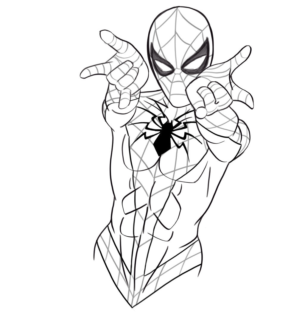 Spider-Man - Black and White by evanattard on DeviantArt