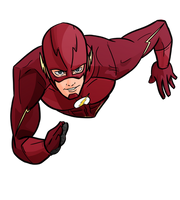 Flash CW Grant Gustin Arrowverse by evanattard