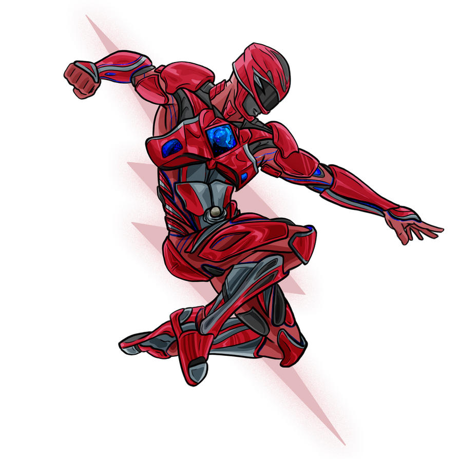 power rangers coloring pages 2017 - power rangers 2017 red ranger by evanattard on deviantart